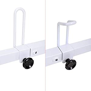 AA-Racks Model X27 Rain-Gutter Van Roof Racks Square 3 Bar Set with Ladder Stoppers, Full (White)