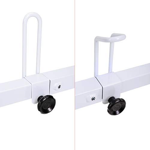 AA-Racks Model X27 Rain-Gutter Van Roof Racks Square 3 Bar Set with Ladder Stoppers, Full (White)