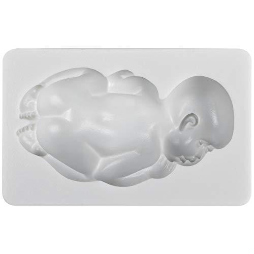 Funshowcase Large Sleeping Baby Silicone Mold for Cake Decoration Candy Soap Making