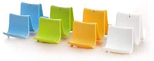 GCX 1 soporte de plástico para ollas y cucharas de cocina, resistente al agua (color: verde)