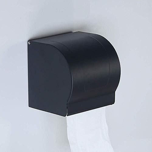 WLP-WF Caja de Papel sin Perforaciones Caja de Papel Higiénico Bandeja de Papel Higiénico Papel Higiénico Negro Papel Higiénico Soporte para Toallas Bandeja para Toallas de Mano Punch-Black Caja de P