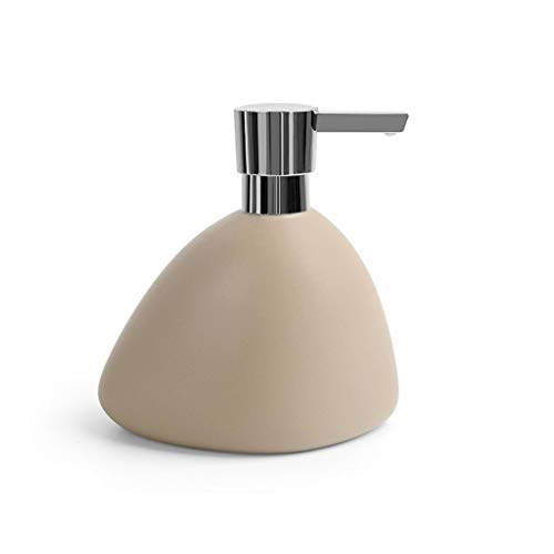 CHENXIANGTA8 Soap Dispenser Simple Ceramic Bathroom Accessories Portable Soap Dispenser Club Hotel Shower Bottle Shampoo Soap Dispenser Bathroom (Color : Brass)