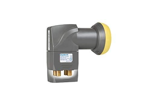 HUMAX Digital LNB 143s-B Quad Switch (Quad LNB, 4 Ausgänge, Wetterschutz, eingebauter Multischalter, 40 mm Feed) Rauschmaß 0,1 dB