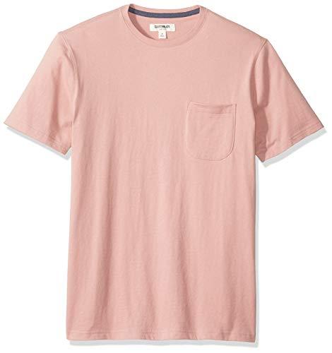 Amazon-Marke: Goodthreads Herren-T-Shirt Kurzarm mit Rundhalsausschnitt, aus Jersey in Wildlederoptik, Pink, US XXL (EU XXXL - 4XL)