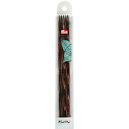 Prym 223142 Strumpfstricknadeln NATURAL farbig 20 cm 3,00 mm Strumpfstricknadel, Holz, mehrfarbig, 3 mm