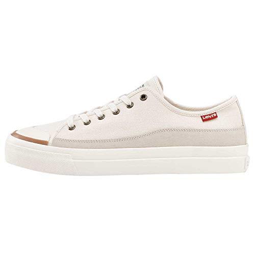 Levi's Herren Square Low Sneaker, Elfenbein, 43 EU