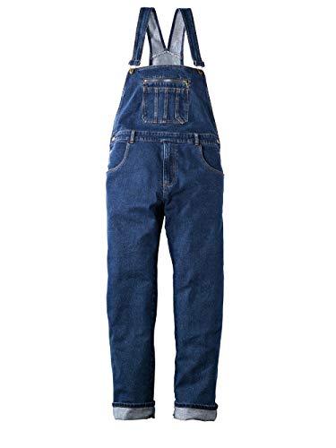 Men Plus by HAPPYsize Herren Jeans-Latzhose – Arbeits-Hose aus Baumwoll-Mix, Comfort Fit Jeans-Hosen, Handwerker-Hose in Blue Stone Gr. 74