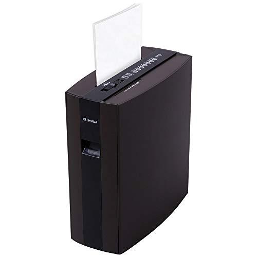 アイリスオーヤマ シュレッダー 家庭用 静音 細断枚数5枚 使用時間5分 CD/DVDカット対応 ダストボックス10L...