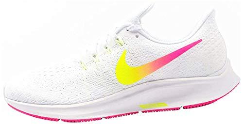 Nike Wmns Air Zoom Pegasus 35, Scarpe da Atletica Leggera Donna, Multicolore (White/Hyper Pink/Volt/Pure Platinum 000), 42 EU