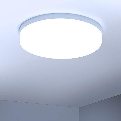 Combuh Deckenleuchte LED 48W 4320LM Ultra dünn Moderne Deckenlampe für Schlafzimmer Wohnzimmer Küche Kaltweiß 6500K Rund Ø30cm