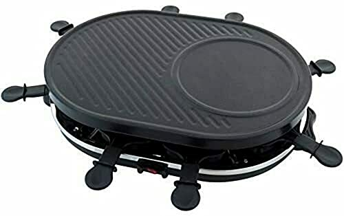 Elektrischer Tischgrill I Elektrogrill I Balkongrill I Tisch Elektro Grill I Barbeque I Raclette Grill I Raclettegrill I 8 Personen inkl Grillpfanne I