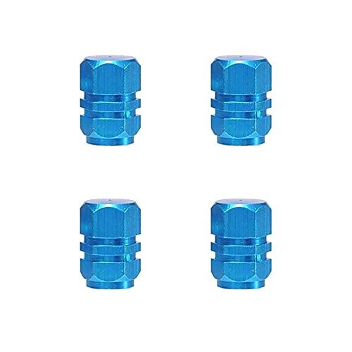 SDFLKAE 4pcs/set Bicicletas Para Neumáticos De Coche Tapas De Válvula De Aleación De Aluminio Motocicletas De Reparación (Azul)