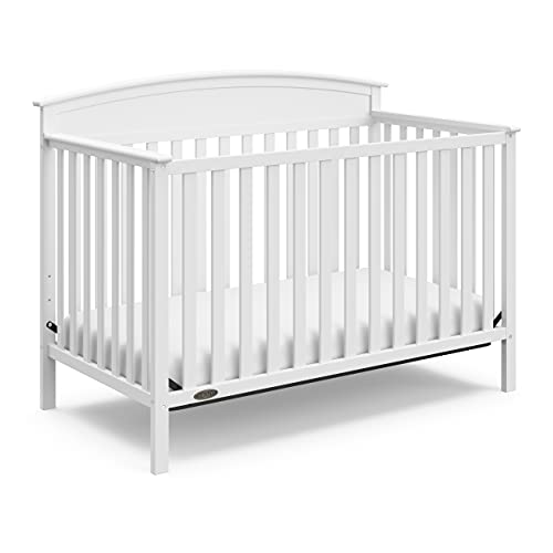 Graco Benton 4-in-1 Convertible Crib (White) Solid Pine and Wood Product Construction, Converts to...