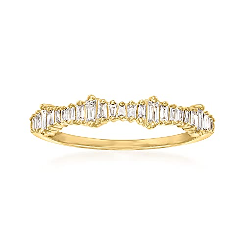 Ross-Simons 0.20 ct. t.w. Baguette Diamond Ring in 14kt Yellow Gold. Size 9