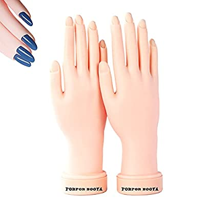 2-Pack Flexible and Bendable Mannequin Practice Hand for Acrylic Nails