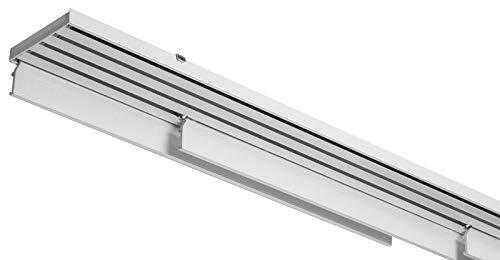 X-PROFILES Binario per Tende a Pannello - 5 Vie con Comando Manuale - Installazione a Soffitto - Completo per l'Installazione (cm 250-pannello 58cm)