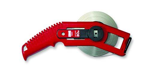 BMI 515321050BF Maßband / Bandmaß Basic 50 m | Basic Rahmen, PONTARIT Band, Flextop, Zugring | Rahmenbandmaß Ultraschall Verschweißt, Länge: 50m, Breite 13 mm, Kurbel L/R wechselbar