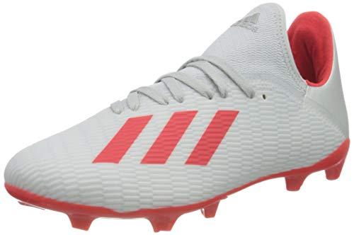 adidas X 19.3 FG J, Zapatillas de Fútbol Hombre, Plateado (Silver Met./Hi/Res Red S18/Ftwr White Silver Met./Hi/Res Red S18/Ftwr White), 38 EU