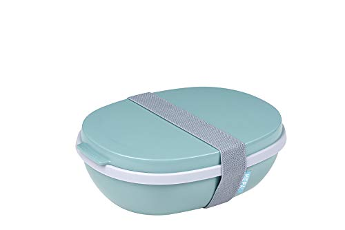 Mepal Nordic Green Lunchbox Ellipse Duo, PP/TPE, 22.5 x 17.5 x 7.5 cm