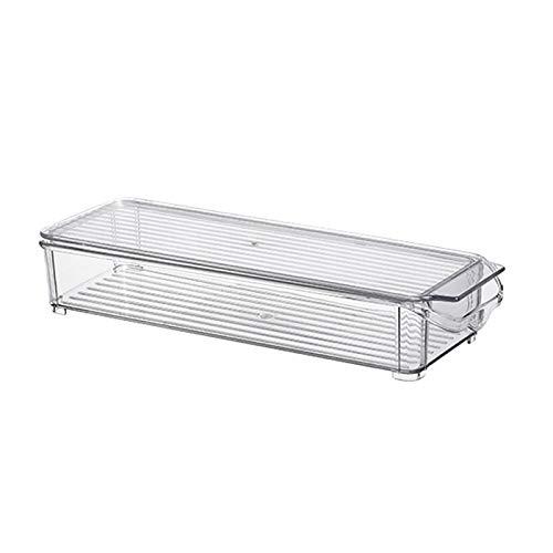 Binxory Recipiente de Plástico para Almacenamiento de Alimentos con Tapa Recipiente de Alimentos para Organización de Refrigerador de Cocina