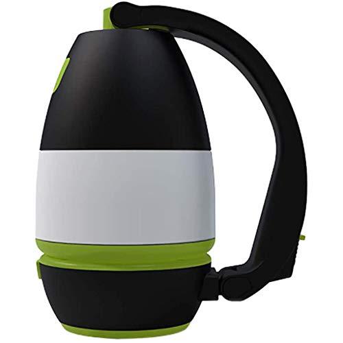 Lanterne De Camping Portable Extérieure Étanche Lanterne De Camping LED Lumière Lampe De Table De Charge USB Multifonctionnelle pour Urgence Randonnée Pêche,Black Green