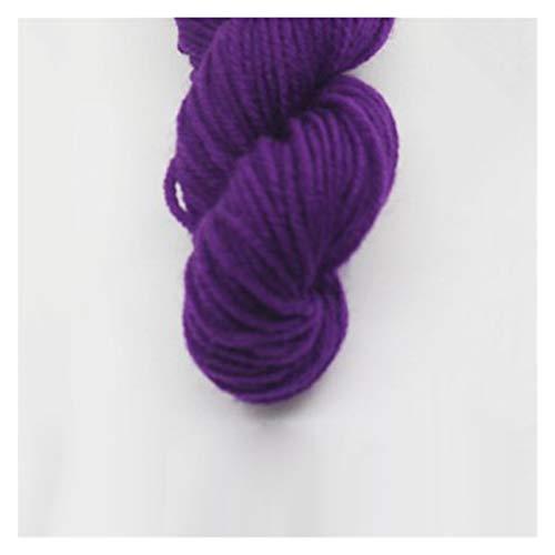 Double Nice Wolle 25g / Kugel kleine garnkugel weiche Baby Milch samt garn für häkeln Hand Strick Wolle gefärbte gewebt Threads schal Pullover Decke Wolle zum Stricken (Color : 7)