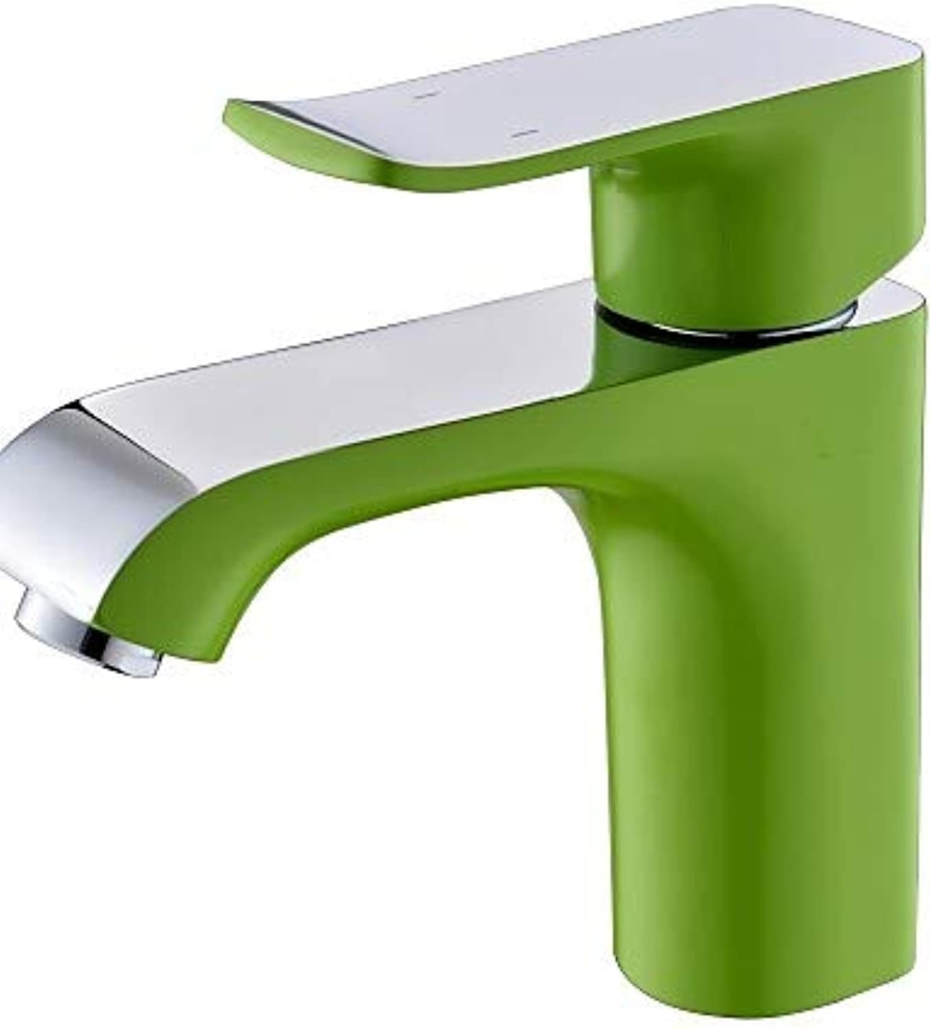 Mainstream home LPZSQ Tap Contemporary Green Painting One Hole Single Handle Bathroom Sink Faucet  767