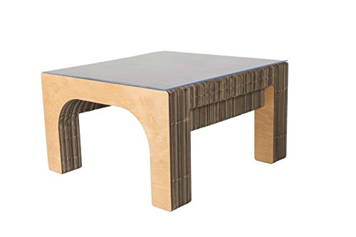 Tavolo Basso SEKKEI Sustainable Design in Cartone, mod. Stockholm, Top in Plexi, Finitura...