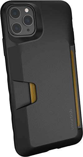 Smartish iPhone 11 Pro Max Wallet Case - Wallet Slayer Vol. 1 [Slim + Protective] Credit Card Holder (Silk) - Black Tie Affair