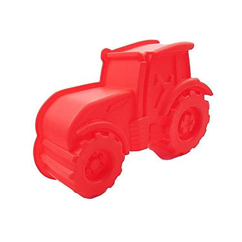 Gloryit Molde Antiadherente con Forma de Tractor para Hornear diseño de bulldog Molde Antiadherente de la Torta de Silicona para Repostería Molde de Silicona para Hornear en Rojo Adecuado Gelatina Pan