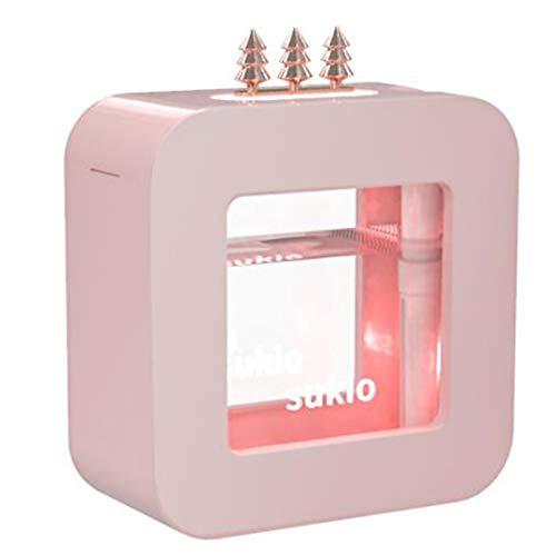 LJQ Mini Humidificador USB Inalámbrico Cool House Humidificador Hogar Dormitorio Dormitorio Oficina De Estudiante Escritorio Spray Silencio Diseño, 450Ml, para Yoga Relajación,Rosado