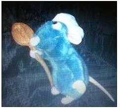 Disney Pixar Ratatouille Chef Remy Waering Hat Holding Spoon 9