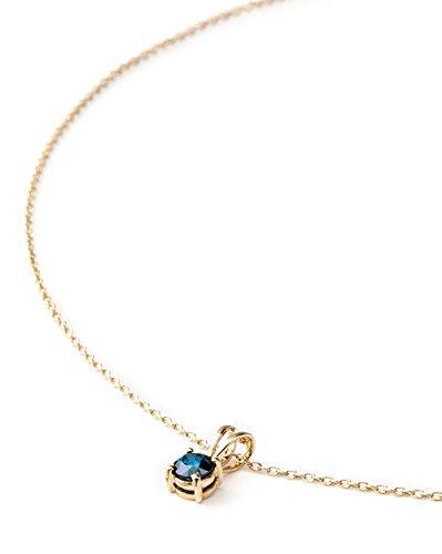 Silvancé - Collana da donna – argento 925 rodiato – vere pietre preziose a scelta e Argento, colore: Gemma autentica: diamante blu., cod. P2530BLD50_SGP