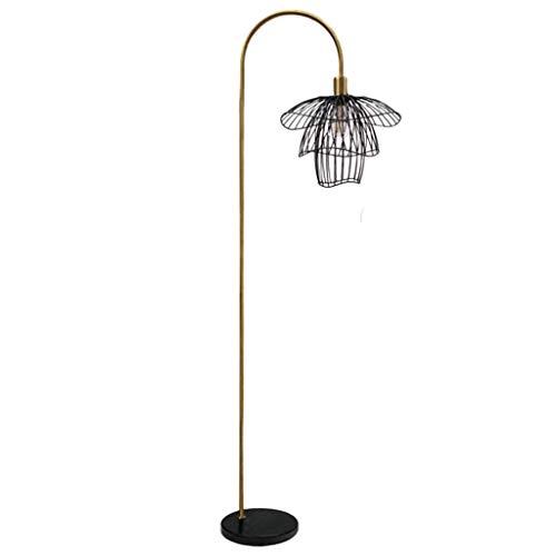WYFX Lámpara de pie 66 & Pole Style; Lámpara de pie de Pesca nórdica Líneas geométricas Falda de Baile enchufable de mármol de Onda Simple Lámpara estándar para Sala de Estar