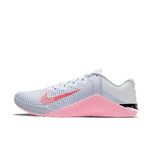 Nike Metcon 6, Chaussures de Gymnastique. Femme, Football Grey Bright Crimson, 42 EU