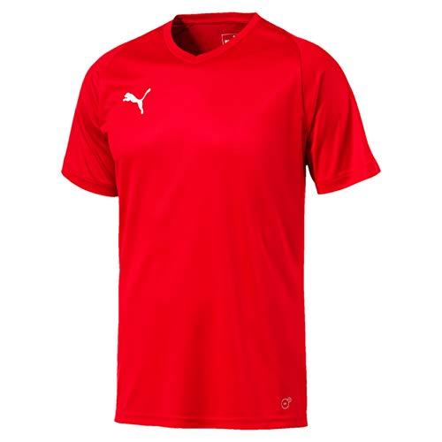 Puma Liga Core Camiseta, Hombre, Rojo Red White, M