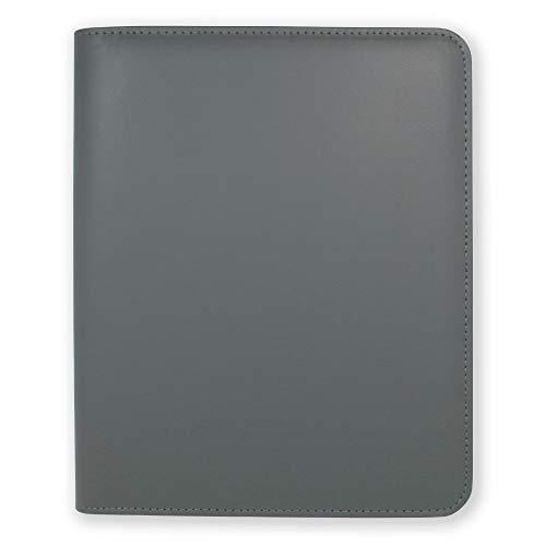 Funda Agenda A5 Essentials de Boxclever Press de cuero sintético con cierre de cremallera. Funda agenda 2021 2022 para agendas, cuadernos y planner 2021 2022 (Gris plomizo)