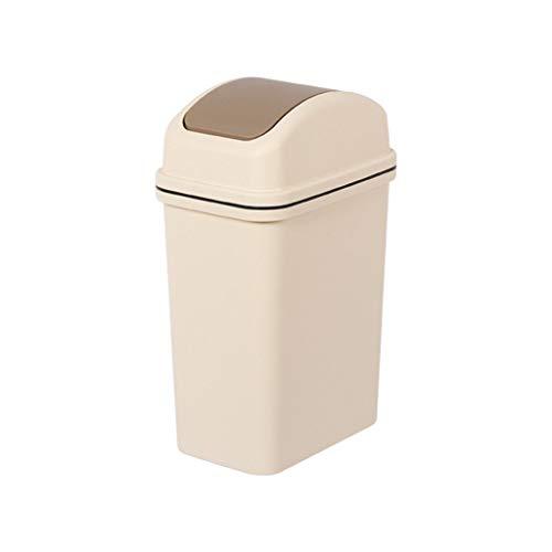 SMEJS Papelera pequeña y delgada, puede para el hogar, la cocina y la basura del baño