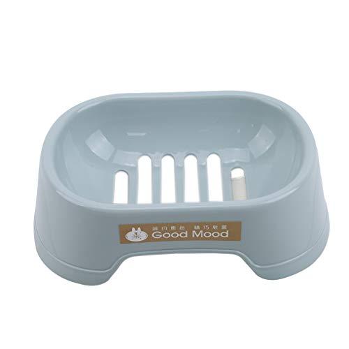 CAVIVI Silikonseifenschalenhalter mit Löchern zum Abtropfen von Seifenresten Schonwanne Schwammwäscher für Duschbäder Küchenarbeitsplatte,Blau