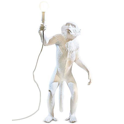 Tischlampe Affe-helles Design Harz Personality Cartoon Café/Kinderzimmer/Schlafzimmer Creative-Affe-Lampe (Farbe: Schwarz, Weiß, Gold) Affenlampe Tischleuchte Jungle Leuchte Tierfigur Palazzo Exklusiv