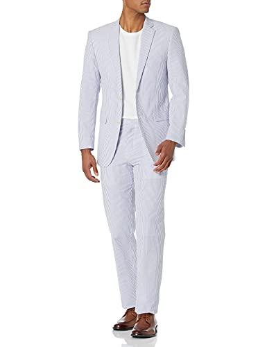 U.S. Polo Assn. mens U.s. Polo Assn. Men's Cotton business suit pants sets, Blue/White, 44 Regular US