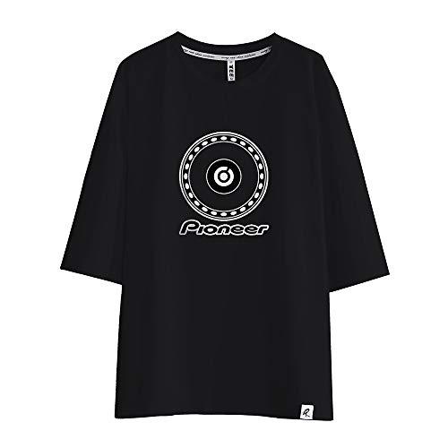 Pioneer Pro DJ Camiseta Camiseta de Manga Corta Transpirable con Estampado Deportivo for Hombres Tecnología antiolor Ropa for Gimnasia Unisex (Color : Black01, Size : M)