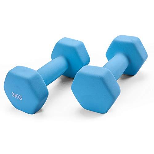 YJHH Mancuernas Antideslizantes 3kg, Mancuernas Fitness, Apretón De Manos Antideslizante Duradera Adecuada...