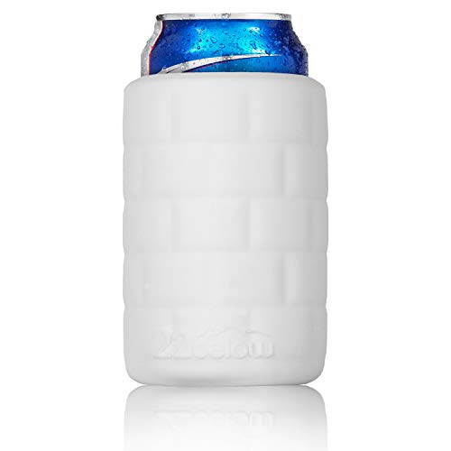 22below - Standard Can Flexible Soft Touch Silicone Insulated Cooler - Arctic White