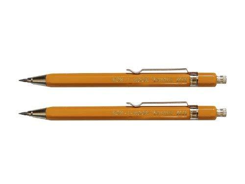 KOH-I-NOOR–Portaminas (metal caso lápices corta Juego de 2mina de 2mm–color: amarillo
