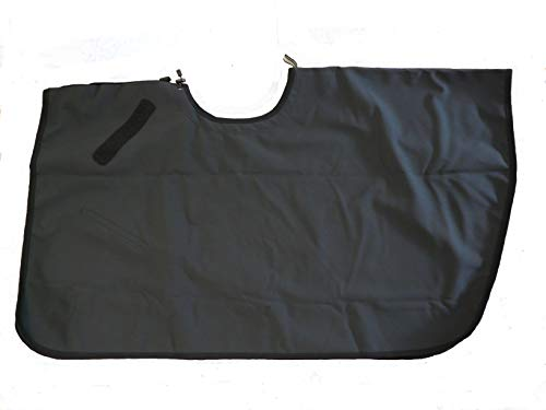 Saddle Skirt Saddle Cover,  Protects Saddle and keeps Rider Dry.  For Western or English Riding, Water and Wind Resistant, Small Up to 34' Waist, Black