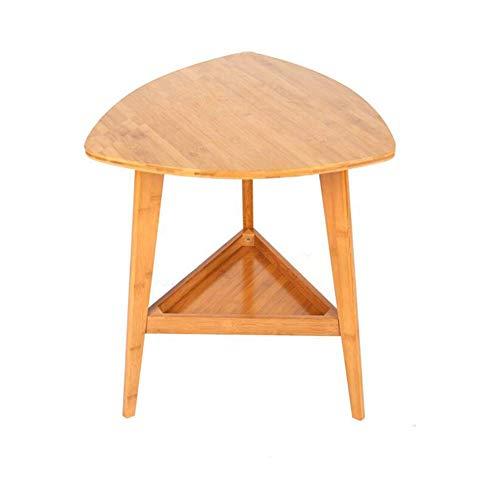 NBVCX Estaciones de Trabajo de Mesa de decoración de Muebles Móvil de Esquina Lateral de bambú Simple