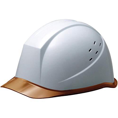 ミドリ安全 ヘルメット 作業用 PC製 クリアバイザー 通気孔付 ウインドフロー SC11PCLV RA3 UP ホワイト/ブラウン