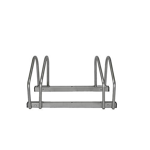 LARS360® Fahrradständer für 2 Fahrräder Boden- und Wandmontage Mehrfachständer Twin Bicycle Stand (Silber)