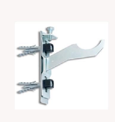 MEI Soportes radiador aluminio regulable equipado con fijacion (juego 2 uds)